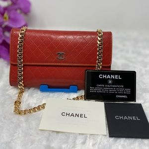 Authentic Preowned Chanel Red Wallet